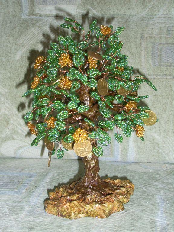 Бисероплетение денежное дерево для начинающих - Делаем фенечки своими руками.